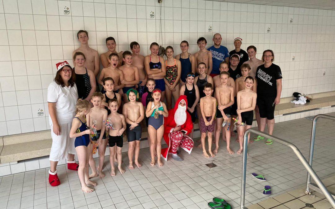 Weihnachtsfeier der Schwimmer