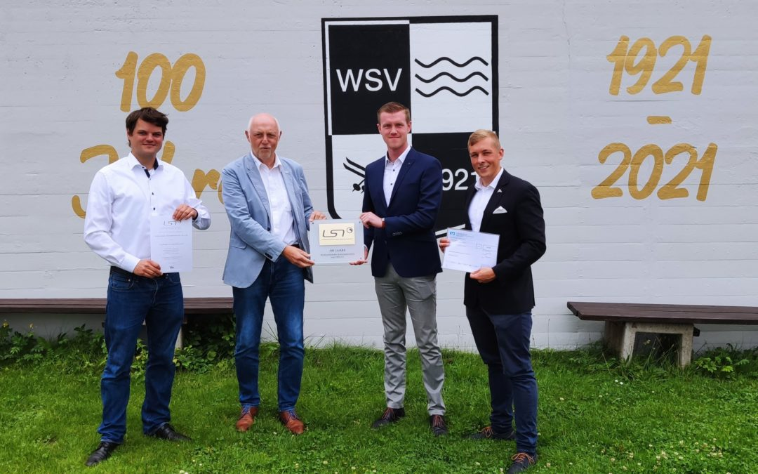LSN gratuliert dem WSV 21 zum 100-jährigen Jubiläum